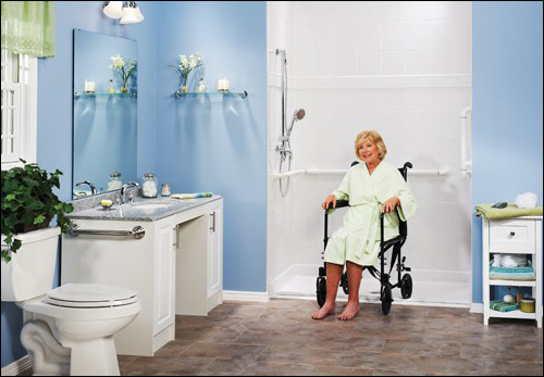 wheel chair accessible ada bathroom
